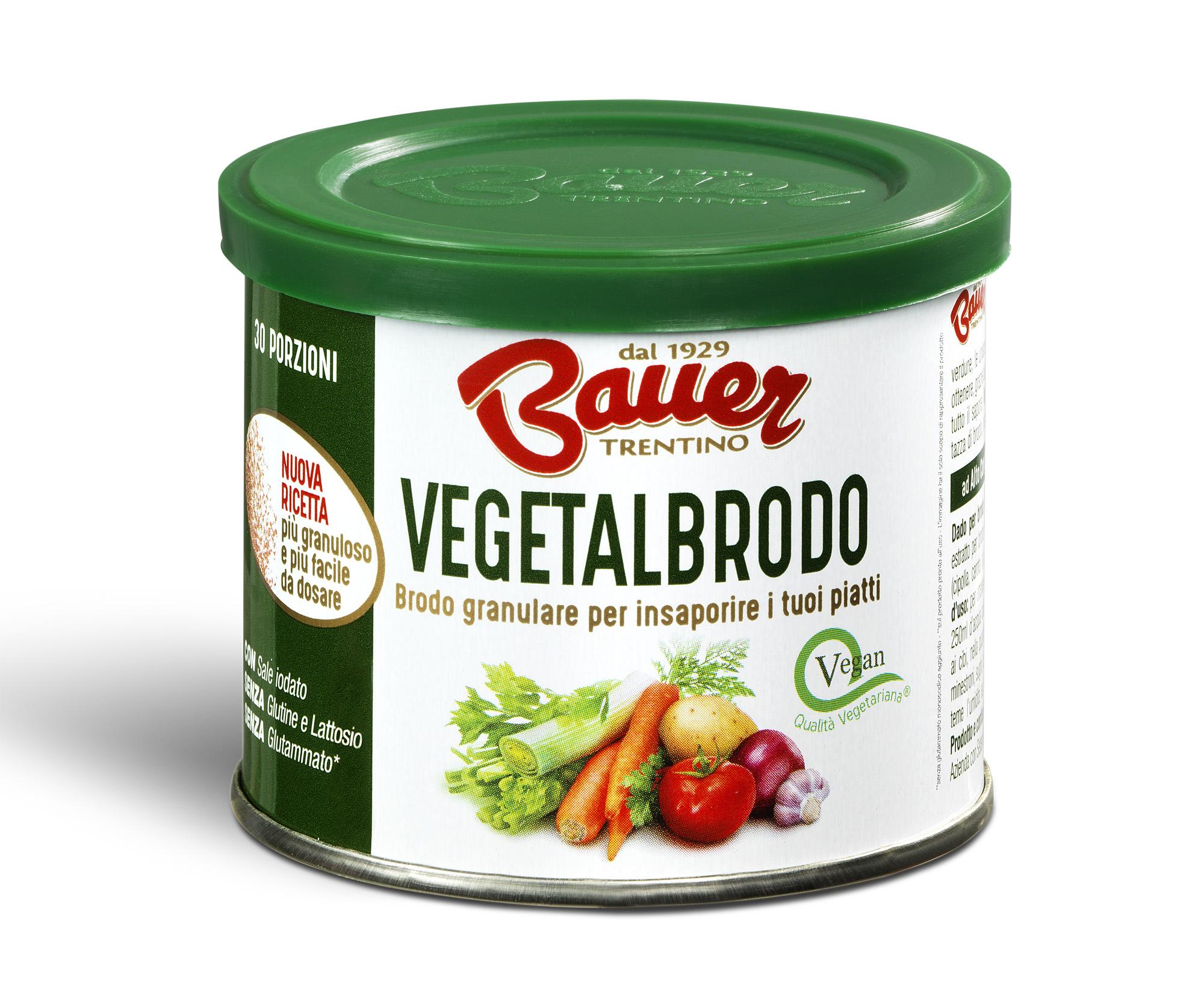 Granulare Vegetalbrodo Bauer: tutto ciò che serve per un brodo di coccole