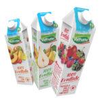 100% Frullato Valfrutta, il nettare solo frutta nel brik da litro