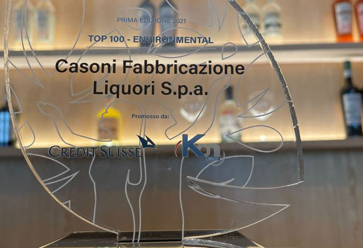 Casoni Fabbricazione Liquori premiata con il Sustainability Award 2021 per la categoria Ambiente